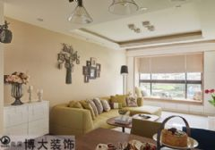 【淮南博大装饰】90平三居室装修设计,来自志高壹代城的时尚美居美式风格二居室