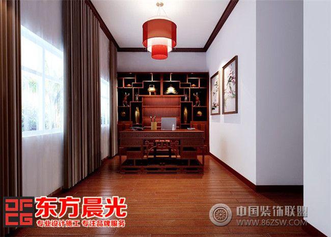 北京别墅装修设计溢满中式温馨-书房装修图片