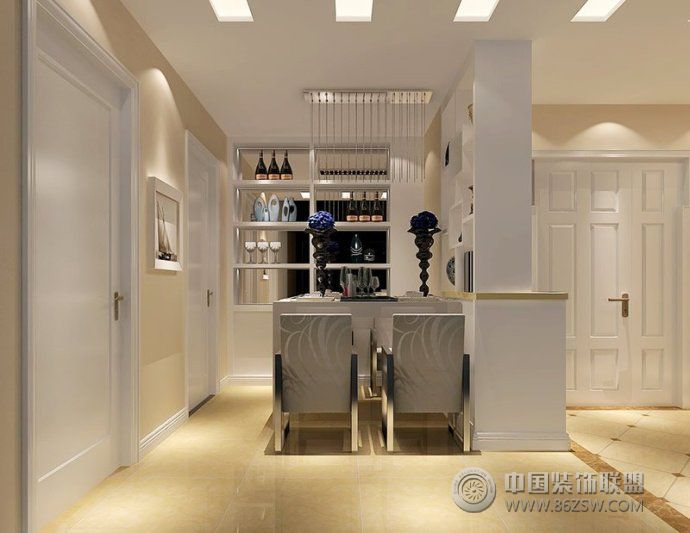 餐厅酒柜装修方案_欧式大户型装修效果图_八六(中国)
