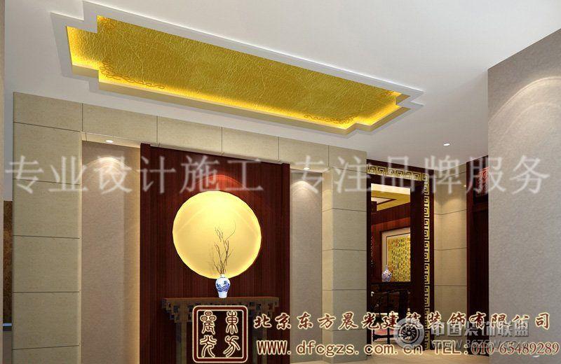 简约优雅的中式别墅装修案例 玄关装修效果图 八六 中国