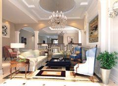 武汉尚层装饰沿海翡丽英伦休闲美式风格方案展示美式风格别墅