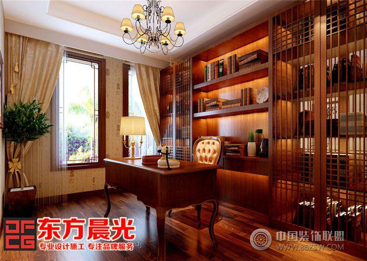 别墅中式装修设计显柔和古典美-书房装修图片
