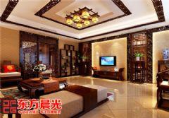别墅中式装修设计显柔和古典美中式风格别墅