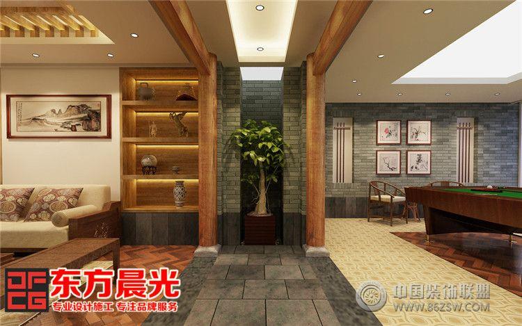中式私人会所装修设计惬意悠然-单张展示-会所装修图