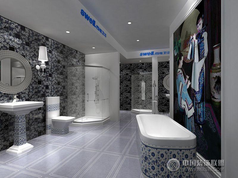 阿森设计 四维卫浴终端设计 单张展示 商场装修效果图