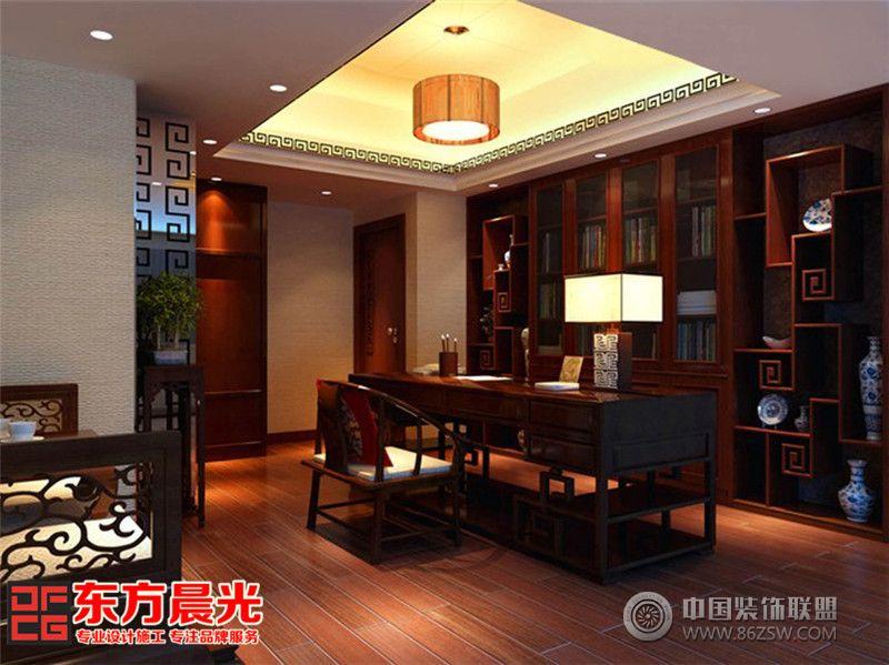 传统中式装修别墅设计效果图整套大图展示_中式别墅图