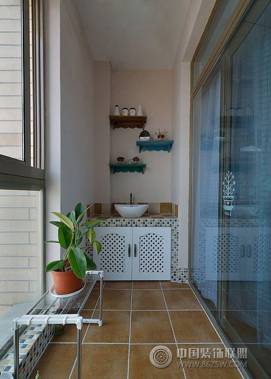 阳台收纳柜设计案例现代装修图片