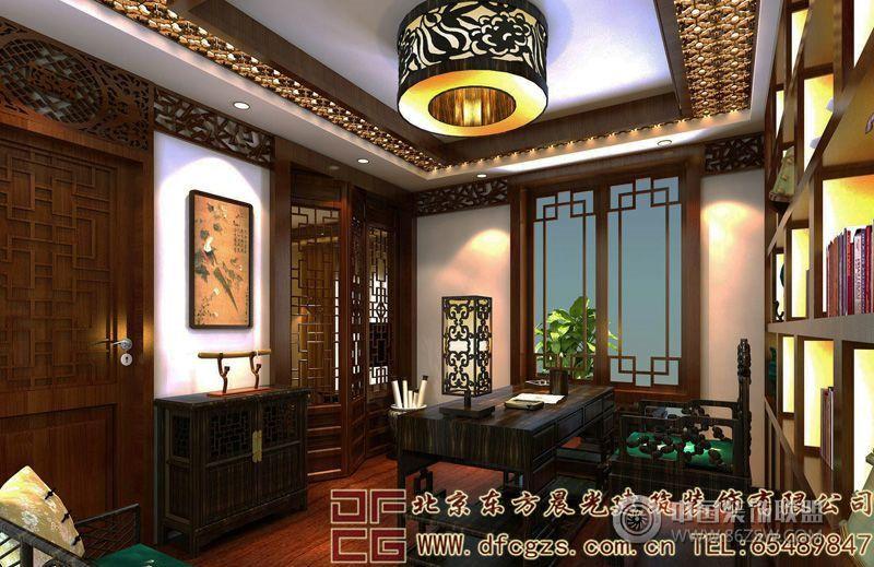 浪漫奢华的中式别墅装修案例-酒店装修图片