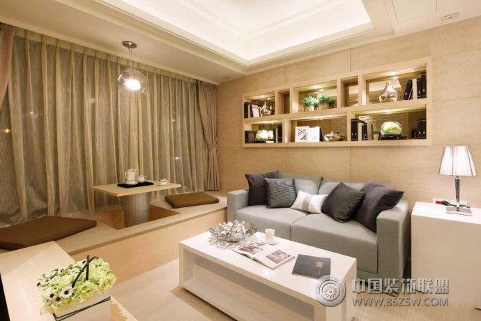 设计客厅榻榻米田园客厅装修图片