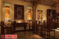 中式四合院设计室内装修中式客厅装修图片