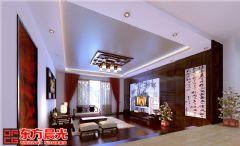 中式别墅装修设计书香气质传承中式客厅装修图片
