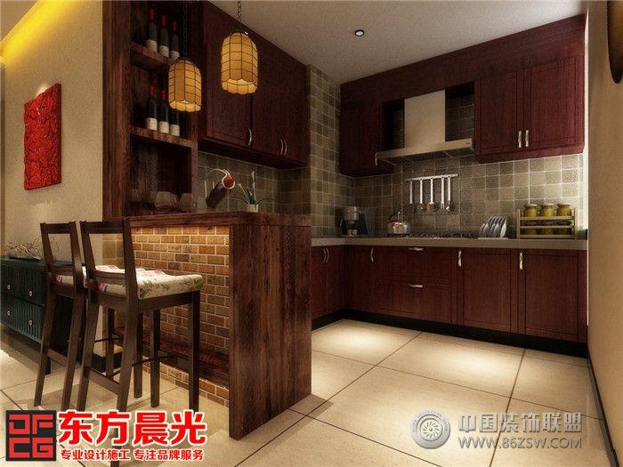 中式风格时尚别墅装修设计 餐厅装修效果图 八六装饰网装