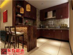 中式风格时尚别墅装修设计中式厨房装修图片