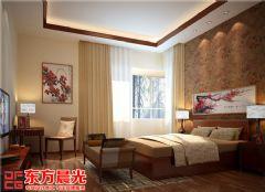 中式风格时尚别墅装修设计中式卧室装修图片