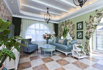 288平四居地中海别墅地中海客厅装修图片