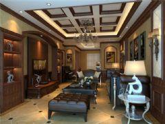 成都尚层装饰别墅装修设计师推荐美式风格效果图欣赏(四)美式风格别墅