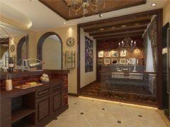 成都尚层装饰别墅装修设计师推荐美式风格效果图欣赏(四)美式过道装修图片
