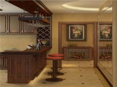成都尚层装饰别墅装修设计师推荐美式风格效果图欣赏(四)美式厨房装修图片