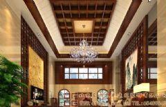 糅合朴雅的中式别墅装修设计效果图