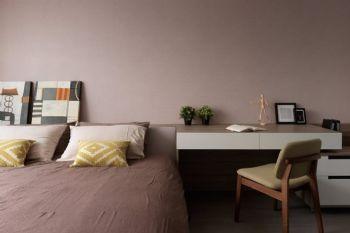 70平简约温馨公寓简约卧室装修图片