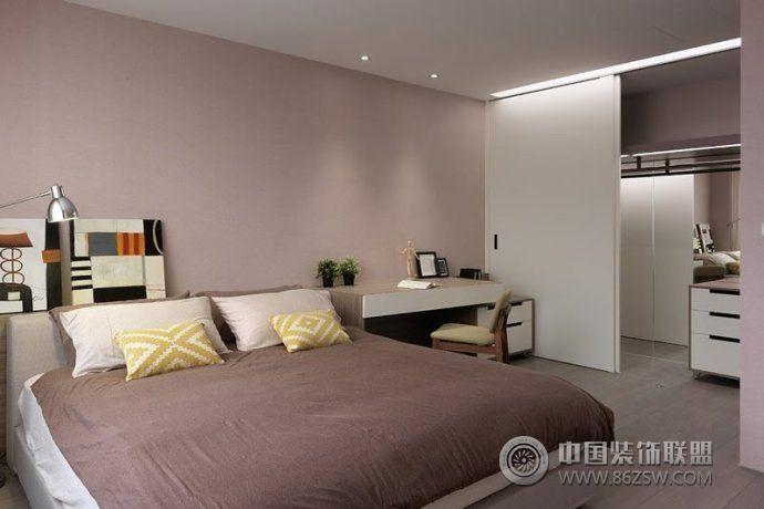 70平简约温馨公寓-卧室装修图片