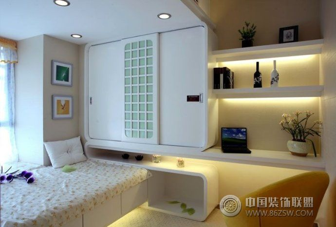 创意设计小户型卧室客厅装修图片