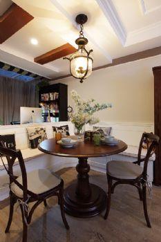 100平中式美式装修案例中式餐厅装修图片