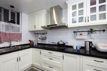 100平中式美式装修案例中式厨房装修图片
