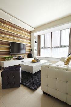 90平现代简约妩媚装修案例现代简约客厅装修图片