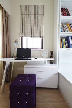 90平现代简约妩媚装修案例现代简约书房装修图片