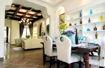 213平地中海田园混搭别墅地中海餐厅装修图片