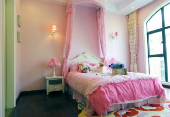 213平地中海田园混搭别墅地中海卧室装修图片