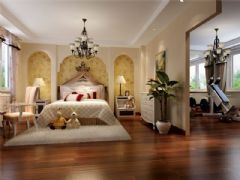 成都尚层装饰别墅装修美式风格装修案例效果图欣赏(五)美式卧室装修图片