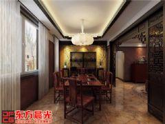 厚重古典风格的中式别墅装修中式餐厅装修图片