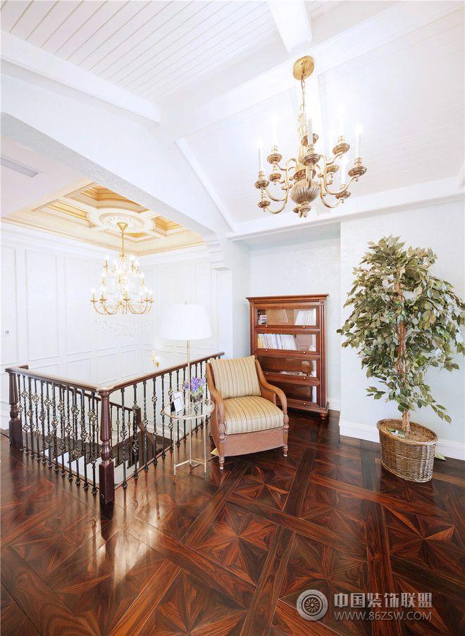 208平美式法式温馨混搭别墅-阳台装修效果图-八六