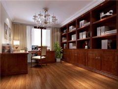 成都尚层装饰别墅装修美式风格案例欣赏(六)美式书房装修图片