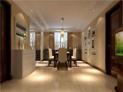 成都尚层装饰别墅装修美式风格案例欣赏(六)美式餐厅装修图片