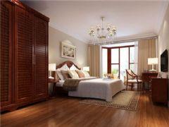 成都尚层装饰别墅装修美式风格案例欣赏(六)美式卧室装修图片