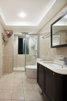 140平混搭装修案例混搭卫生间装修图片