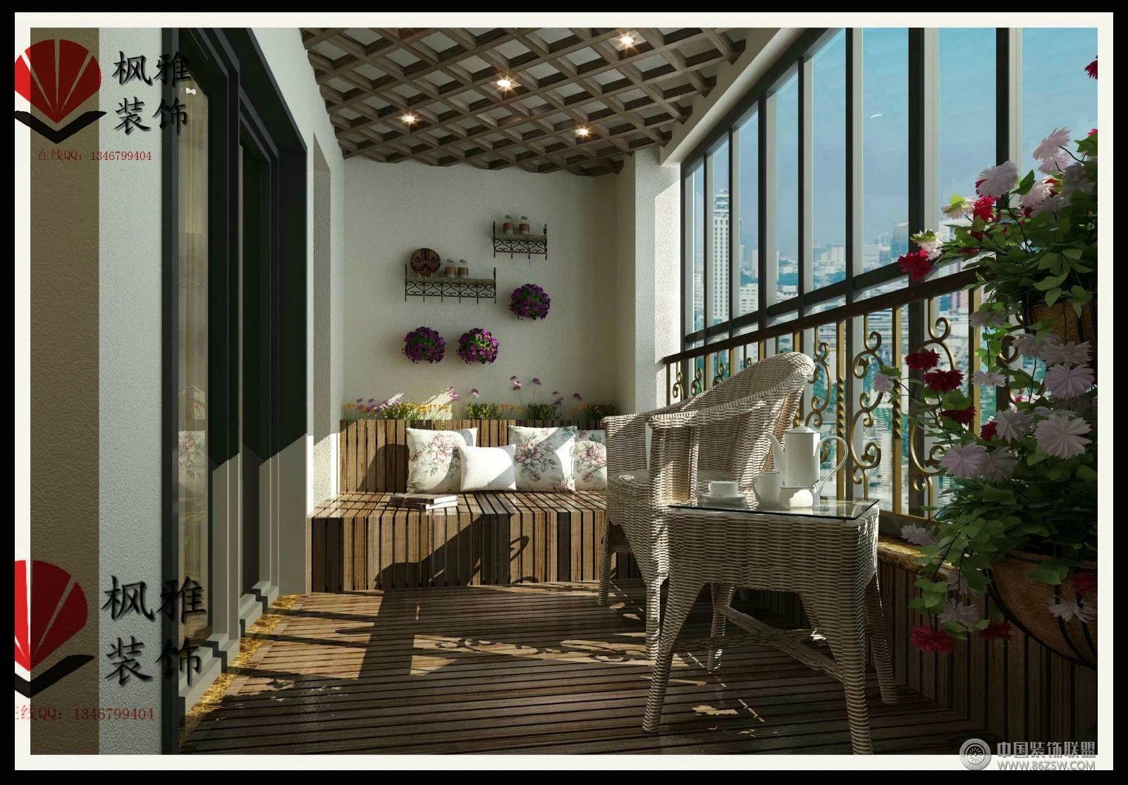欧式风格阳台装修效果图