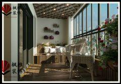 诚和*新旅程126平90后婚房 低调奢华混搭出彩欧式阳台装修图片