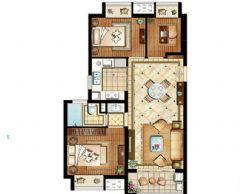 旭辉美澜城89平方2居室-现代简约装修效果图现代简约其它装修图片