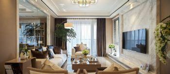 160平现代时尚公寓现代客厅装修图片