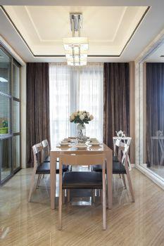 160平现代时尚公寓现代餐厅装修图片