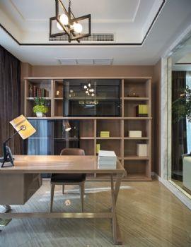160平现代时尚公寓现代书房装修图片