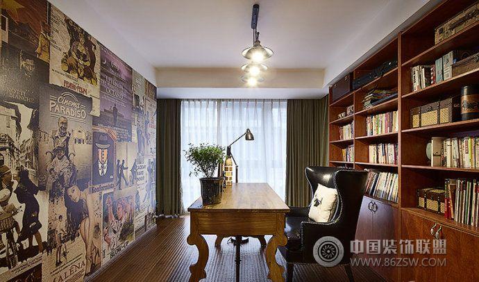 家装个性书架设计客厅装修图片