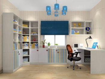 家装个性书架设计现代书房装修图片