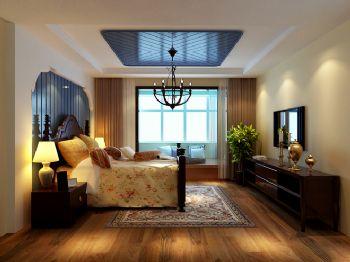 116平新中式时尚婚房中式卧室装修图片