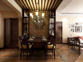 116平新中式时尚婚房中式餐厅装修图片