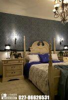 奥山世纪城101平米美式卧室装修图片